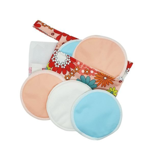 Milk Baby Bamboo Reusable Breast Pads - Cotton Candy 1