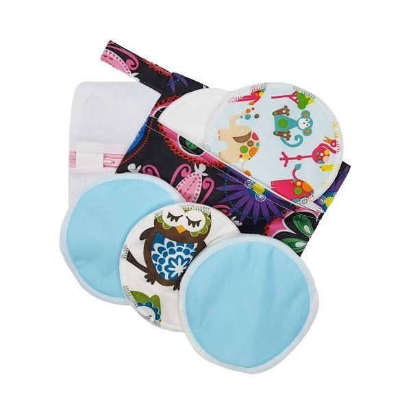 Milk Baby Bamboo Nursing Breast Pads - Zoo Day Out 1