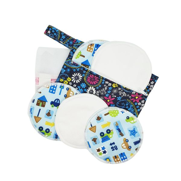 Milk Baby Bamboo Reusable Breast Pads - City Life 1