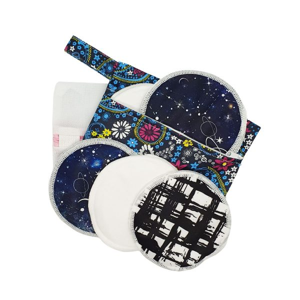 Milk Baby Bamboo Reusable Breast Pads - Galaxy & Beyond 1
