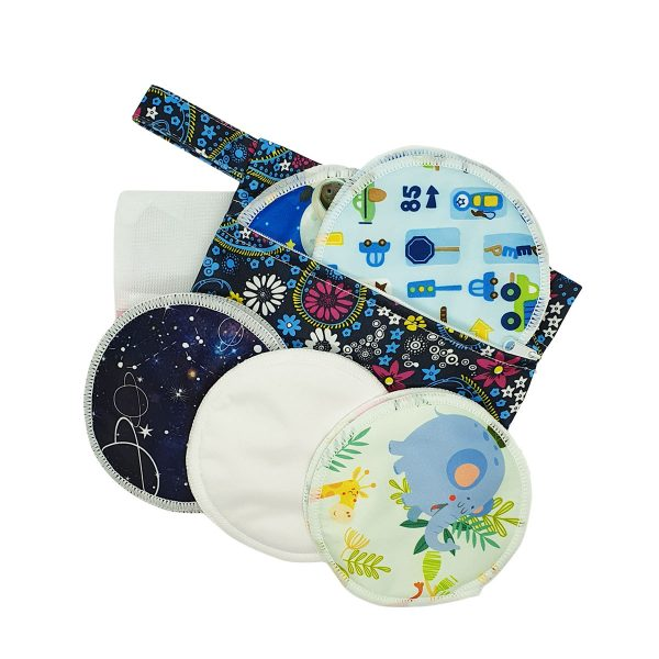 Milk Baby Bamboo Reusable Breast Pads - Here & There 1