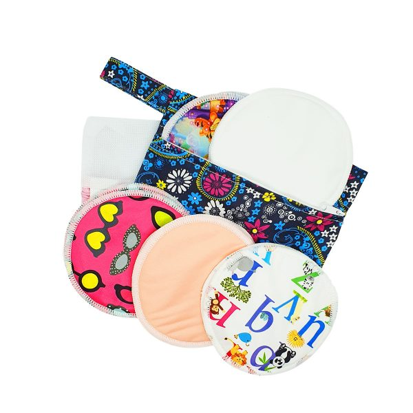 Milk Baby Bamboo Reusable Breast Pads - Love Letter 1